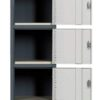 Contemporary Five Tier Locker