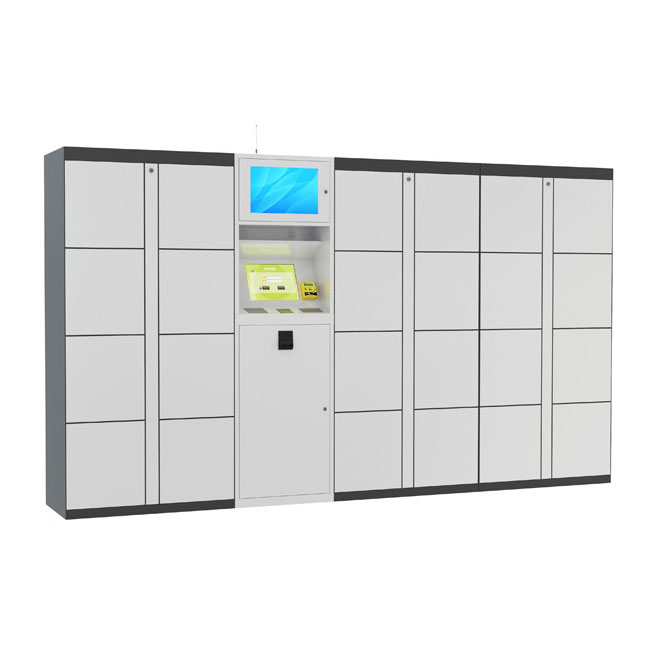 15 inch Touch Screen Smart Luggage Rental Luggage Lockers for Train Station / Library / Market