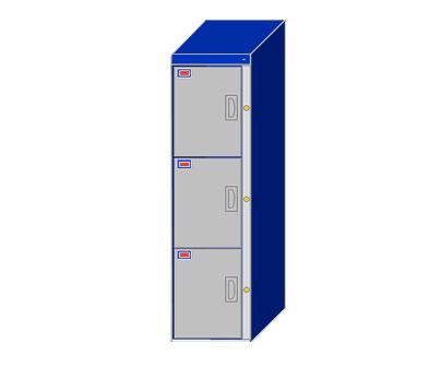 3 Door Locker Cabinet