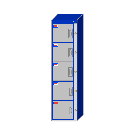 Water-Park-Locker-5-Door-Locker-Cabinet