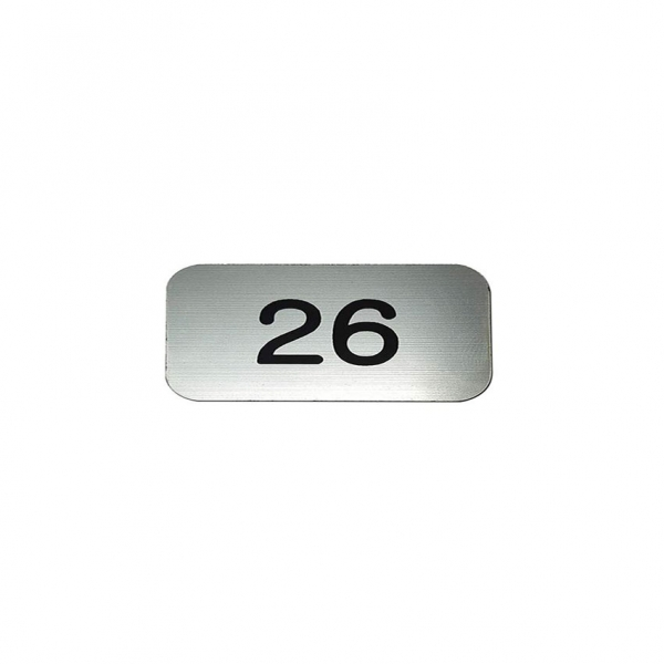 Numbered Plaque – 20mmH x 40mmW