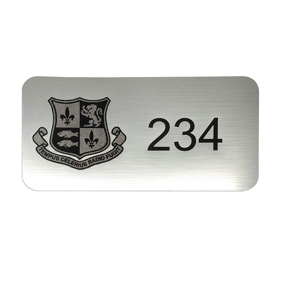 Numbered Plaque with Emblem – 60mmH x 120mmW