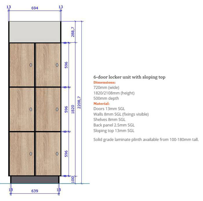 6-door-lower-lever-leisure-locker-specifications